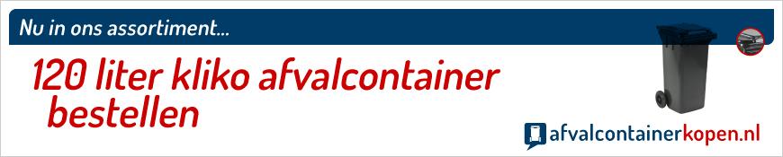 120 liter kliko afval-container bestellen in onze webshop