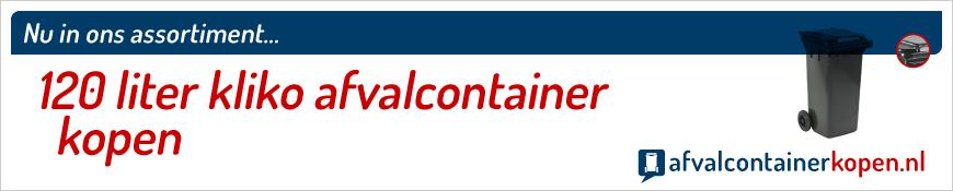 120 liter kliko afvalcontainer kopen in onze webshop