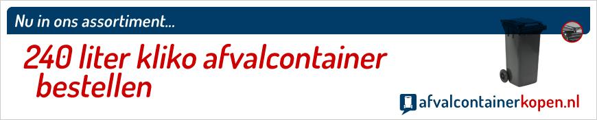 240 liter kliko bestellen in de webshop Afvalcontainerkopen.nl