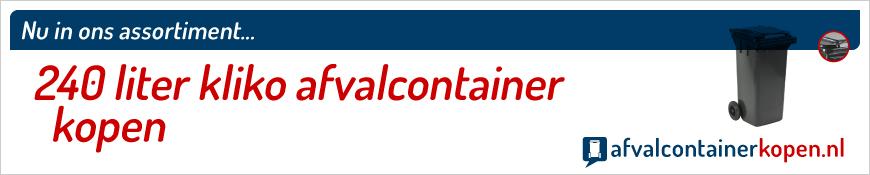 240 liter kliko kopen in de webshop Afvalcontainerkopen.nl