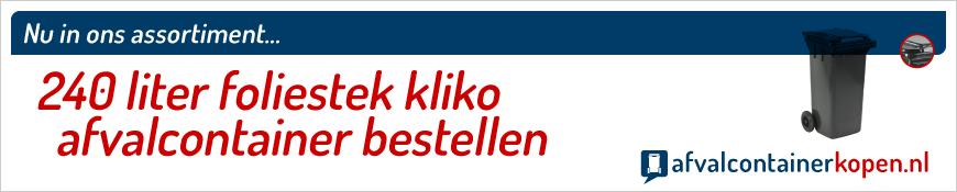 240 liter kliko voor plastic folies bestellen in de webshop Afvalcontainerkopen.nl