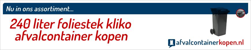 240 liter kliko voor plastic folies kopen in de webshop Afvalcontainerkopen.nl