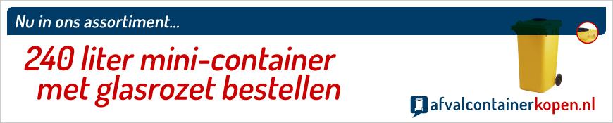 mini-container met met glasrozet bestellen