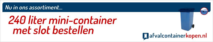 mini-container met slot en gleuf bestellen