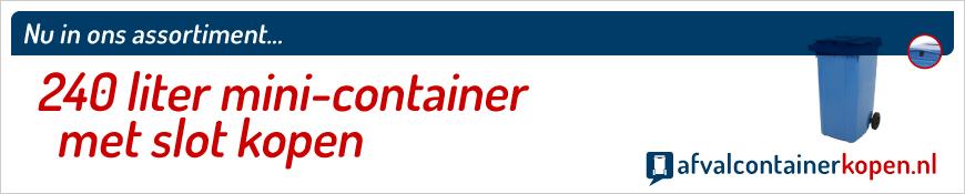 mini-container met slot en gleuf kopen
