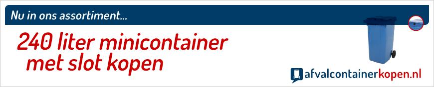 minicontainer met slot en gleuf kopen online