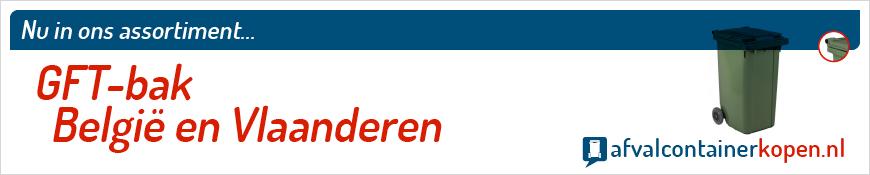GFT-bak België en Vlaanderen voor langdurig en intensief gebruik, eenvoudig online te bestellen bij Afvalcontainerkopen.nl.