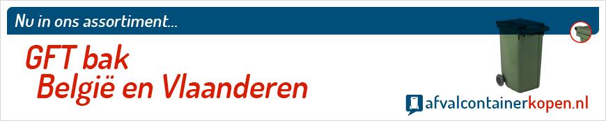 GFT bak Vlaanderen voor langdurig en intensief gebruik, eenvoudig online te bestellen bij Afvalcontainerkopen.nl.