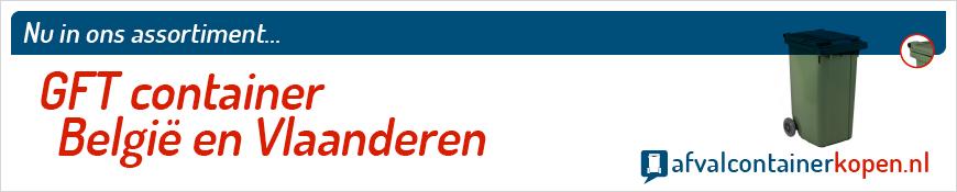 GFT container Vlaanderen voor langdurig en intensief gebruik, eenvoudig online te bestellen bij Afvalcontainerkopen.nl.