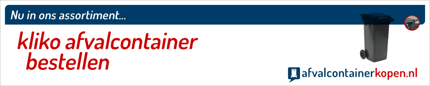 kliko afval-container bestellen in onze webshop