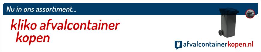 kliko afvalcontainer kopen in onze webshop