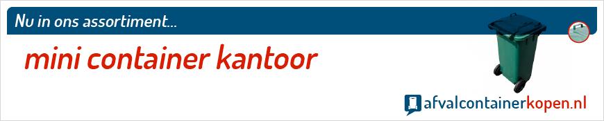 Mini container kantoor voor langdurig en intensief gebruik, eenvoudig online te bestellen bij Afvalcontainerkopen.nl.