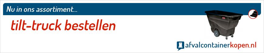Tilt-truck bestellen voor langdurig en intensief gebruik, eenvoudig online te bestellen bij Afvalcontainerkopen.nl.