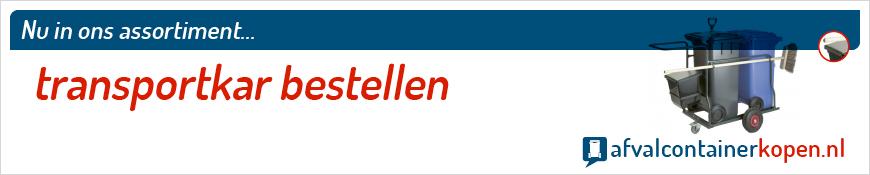 Transportkar bestellen voor langdurig en intensief gebruik, eenvoudig online te bestellen bij Afvalcontainerkopen.nl.