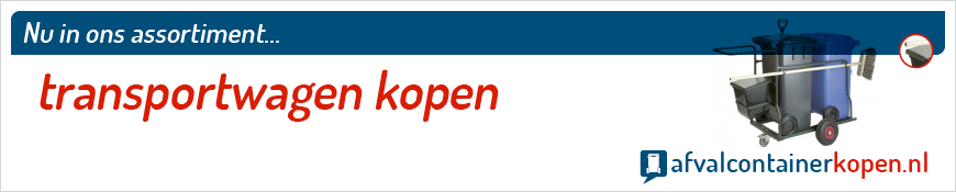 Transportwagen kopen voor langdurig en intensief gebruik, eenvoudig online te bestellen bij Afvalcontainerkopen.nl.